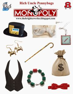 Rich Uncle Pennybags AKA The Monopoly Banker Guy halloween costume. Last minute . Last Minute Halloween Costumes, Halloween 2015, Halloween Crafts, Halloween Ideas, Monopoly Theme, Monopoly Man, Game Costumes, Diy Costumes, Costume Ideas