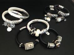 #blackandwhite #bracelets #phyllisclark #jewelry
