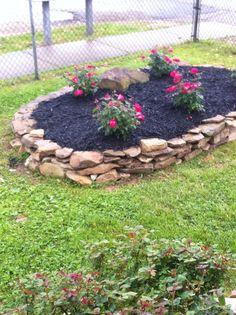 Delightful Creek Rock Flower Bed