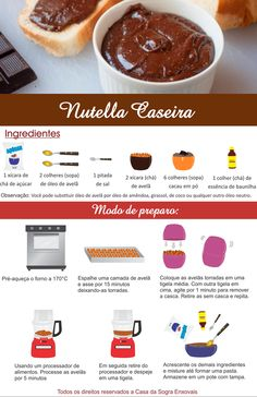 Aprenda a fazer NUTELLA CASEIRA. Uma receita deliciosa do mercado para a sua casa. Experimente! Veja mais em: http://dicasdacasa.com
