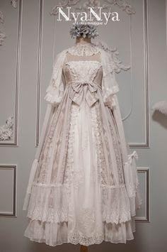 NyaNya Lolita -Carol of the Nightingale- Lolita Outlayer Dress - Round 2 Preorder Kawaii Fashion, Lolita Fashion, Lolita Gothic, Pretty Dresses, Beautiful Dresses, Victorian Fashion, Vintage Fashion, Vintage Dresses, Vintage Outfits