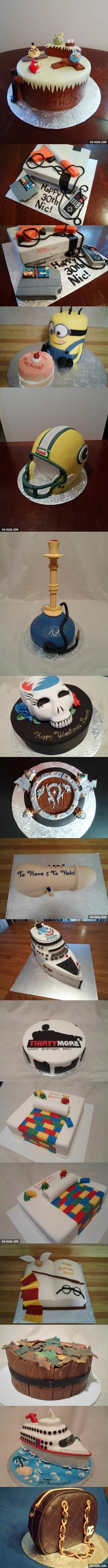 Those are amazing... That person is a cake-making genius