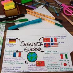 Mapa sobre a SEGUNDA GUERRA MUNDIAL. Boa tarde!!  #estudar #estudandohistoria #estudando #foco #foconojaleco #foconosestudos…