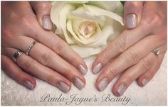 Shellac mani for lovely Becky. Colour Unlocked with Rose Gold Glitter Fade.