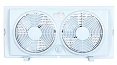 """""""Cool off your space or move stale air out with this Optimus reversible twin window fan, which features front and rear controls and a rain-resistant motor for comfortable airflow. Base feet allow you to use the fan on your tabletop. Window Fans, Slide Screen, Cool Works, Kitchen Exhaust, Pedestal Fan, Window Fitting, Best Windows, Window Styles, Exhausted"""