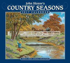 2017 John Sloane's Country Seasons Deluxe Wall Calendar