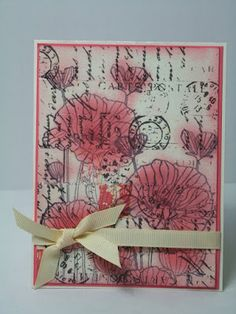 Beyond Just Black and White...paper crafting projects: In lieu of Distress Markers