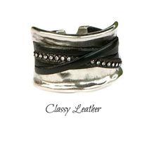 Half cuff,half bracelet,bracelet,women bracelet,women jewelry,women accessories,Cuff bracelet,leather cuff,leather bracelet,silver bracelet by ClassyLeather on Etsy