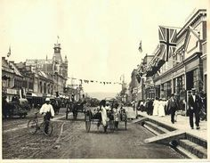 West Street, Durban circa 1890/1900? Kwazulu Natal, African History, Good Old, Old Photos, South Africa, Past, Street View, Ancestry, Places