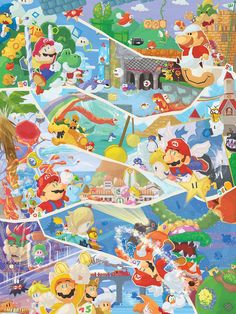 Super Mario Super Artwork 30 Years of Mario