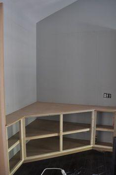 LIVING ROOM Corner Built In For Tv