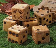 Wood Yard Dice- what a fun idea for backyard games!