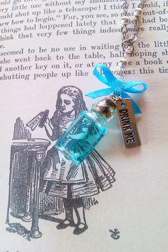 Alice In Wonderland 'Drink Me' Bottle Pendant