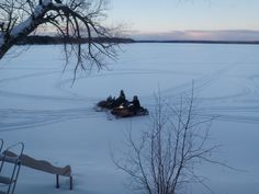 Snowmobiling in Arbor Vitae, Wisconsin You have to go to Slo's Pub on Big Arbor Vitae Lake. Really cool place.