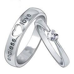Customized Engravable Endless Love Matching Heart Wedding Couple Ring - Couple Wedding Rings - Couples Gift Ideas Rhinestones iPhone 5 4S 3GS Cases, Couple Necklaces / Wedding Rings & Uncommon Gift Ideas - Worldwide Shipping