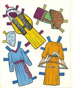 Vintge 1960 Bible Paper Dolls Top Best Quality RPRO ORG Sz Free SHIP W2 | eBay