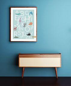 pokój dziecka - obrazy i plakaty-Plakat ALFABET