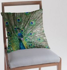 Peacock Pillow by GardenImagery on Etsy