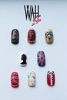 THE ROYAL NAIL: Queen's Birthday Diamond Jubilee Nail Art