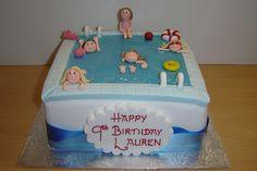 The Cake Compagny vous présente son gâteau d'anniversaire piscine !