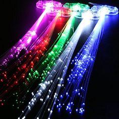 Kohree LED Fiber Hair Light Up Hair Barrettes, Multicolor Flash Barrettes Clip Braid - Party Supplies(15 Set) Kohree