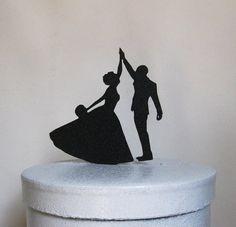 Wedding Cake Topper High Five by Plasticsmith on Etsy