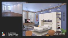 """Check out my #interiordesign """"Zach's Room"""" from #Homestyler http://autode.sk/1pCueoB"""