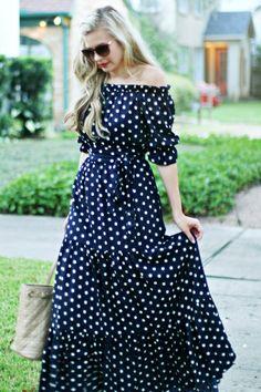 Moda Casual Verano Summer Outfits Polka Dots 28 New Ideas Cute Dresses, Beautiful Dresses, Casual Dresses, Summer Dresses, Women's Casual, Casual Fall, Casual Summer, Summer Clothes, Summer Outfits
