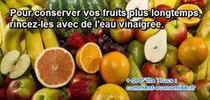 conserver fruit sans frigo avec eau vinaigre