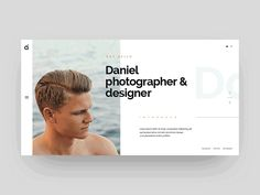 AI | Photographer Site - a new project that i'm working on. Minimalist layout and focus on main contents, it may helps freelancers & photographers, who are looking for inspirations for their pe...
