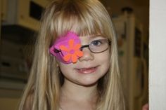 Lazy Eye Patch Ideas- if only i knew this before.....i could have made it for my sister instead of having her wear animal stickers! :(