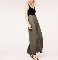 Ann Taylor LOFT Lou /& Grey Stripe Ruched Maxi Skirt Size S,M,L,XL NWT Black Colo