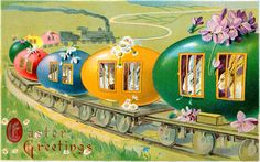 All Aboard the Bunny Train! Easter Clip Art - Miss Mary's ...