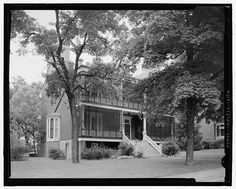 Historic American Buildings Survey Douglas McCleery, Photographer June 1958 EXTERIOR VIEW: SOUTH-WEST - 20-22 Sumner Place (House), Leavenworth, Leavenworth County, KS