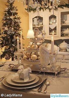 vit jul,dukningar