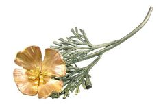 Silver Seasons - Michael Michaud - California Poppy Pin