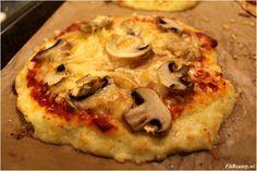 Recept: pizza van bloemkoolbodem! (koolhydraatarm) - Fitbeauty