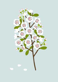 Illustration Blossom: Sarah Abbott. Seen on HappyMakersBlog.com