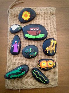 Story Stones Bible Story Stones by WishesAndWonderment on Etsy