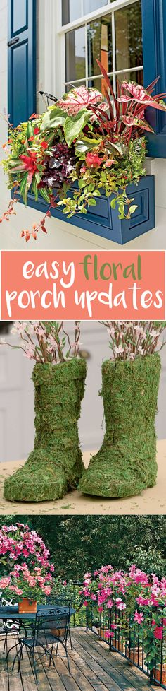 Porch sittin' season is finally upon us. These DIY floral décor ideas will have your space spruced up in no time.