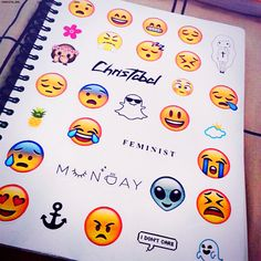 Emoji Notebook DIY emoji notebook,  diy notebook