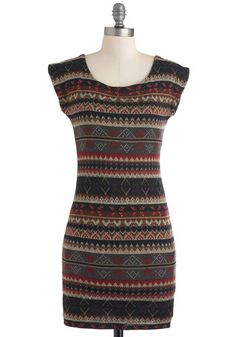 Maybe I need to start skiing...or just go on a ski trip...Ski Lodge Lovely Dress, #ModCloth