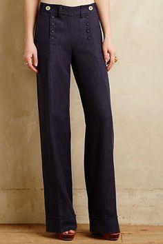 Sailor pants. My favorite type of pants.