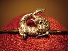 Silver dragon solid brass circlet by SpiritoftheGoddess on Etsy, $42.00