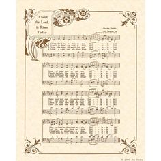 Christ the Lord is Risen Today - wonderful Easter Hymn by Charles Wesley. Gospel Music, Music Lyrics, Music Music, Piano Music, Hymn Art, Bible Art, Praise Songs, Praise God, Song Words