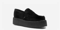 CREEPER LOAFER - BLACK SUEDE - DOUBLE SOLE - CUSTOM MADE - Underground