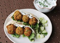 Homemade Falafel + Cucumber Dressing - A Beautiful Mess