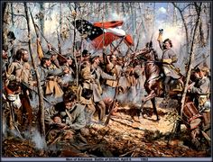 General Albert Sidney Johnston rallies his troops at Shiloh