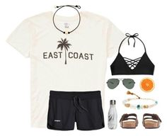 """""""east coast babe"""" by sunglamourandpreppiness ❤ liked on Polyvore featuring Billabong, J.Crew, Lena Skadegard, S'well, Xhilaration, Ray-Ban and Patagonia"""