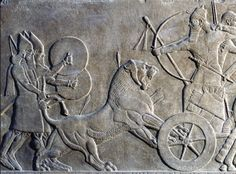 """""""Lions of Assyria"""" - stone carving, British Museum (lion hunt, the royal sport of Assyrian kings)"""